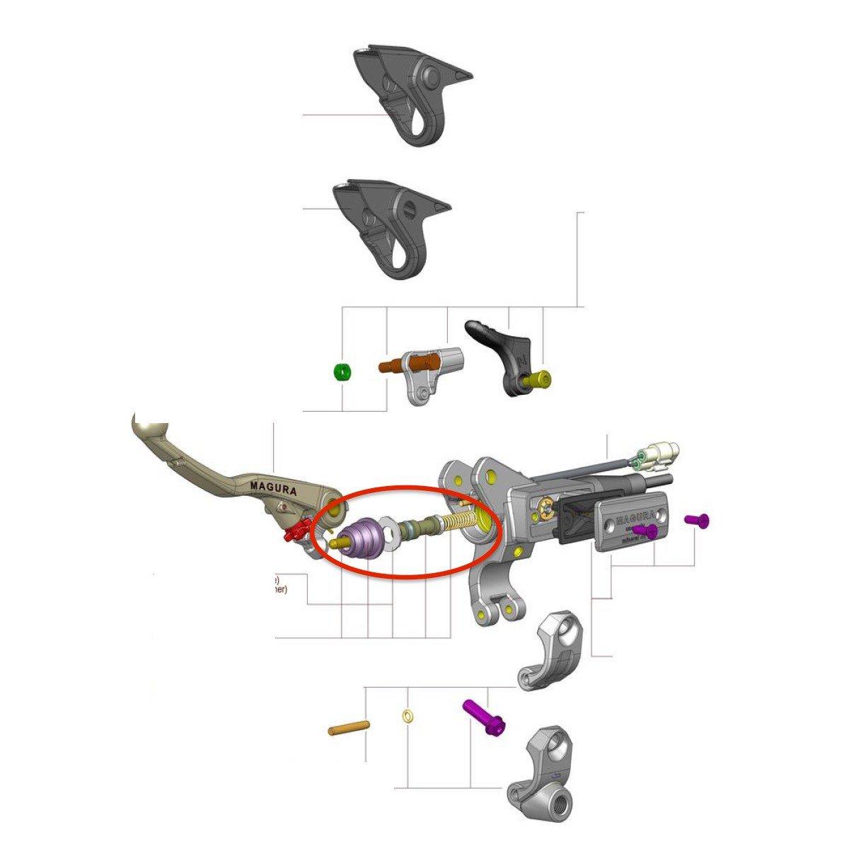 Kit Reparation De Maitre-Cylindre Magura 9.5Mm Pour Hymec 167: Amazon.es: Juguetes y juegos
