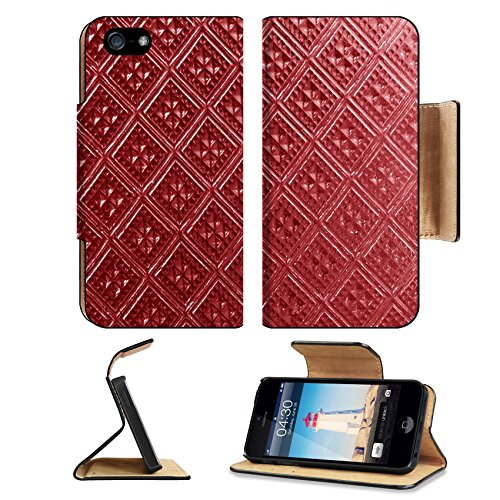 MSD Premium Apple iPhone 5 iPhone 5S Flip Pu Leather Wallet Case iPhone5 IMAGE ID: 38508926 Seamless square colorful textured stained glass panel useful as - Frames Oblong Glasses