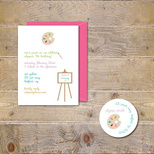 Art Party, Girl's Birthday, Invitations Art Pottery Party from Sweet Bella Stationery