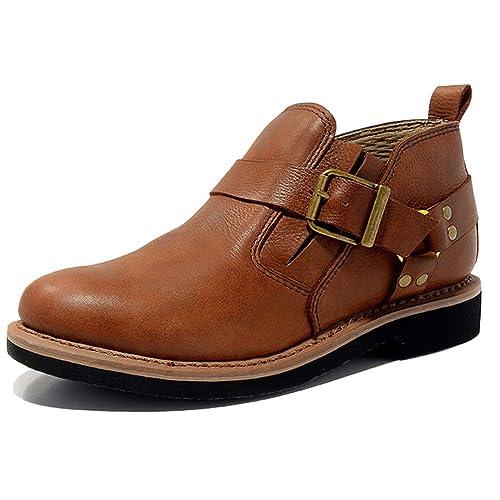 Hombres Botas De Cuero Martin Botas Botines Formales Botines Chelsea Desierto De Hebilla De Combate Botas De Nieve: Amazon.es: Zapatos y complementos