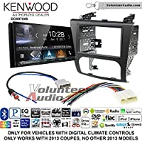 Volunteer Audio Kenwood DDX9704S Double Din Radio Install Kit with Apple Carplay Android Auto Fits 2007-2013 Nissan Altima (Digital Climate Controls)