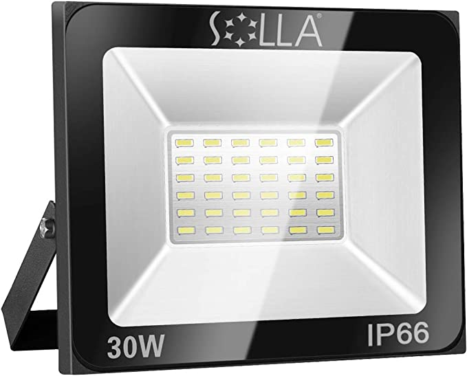 Foco LED 30W IP66 Luz de Seguridad Exterior Impermeable, 2400LM ...