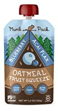 Munk Pack Oatmeal Frt Sqz Bbry Acai 4.2 Oz