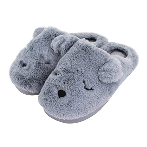 ae48096f76 Van Caro Kids Indoor Warm Slippers Boys Girls Home Slippers Fuzzy Lining  Antislip Sole Cute Doggy