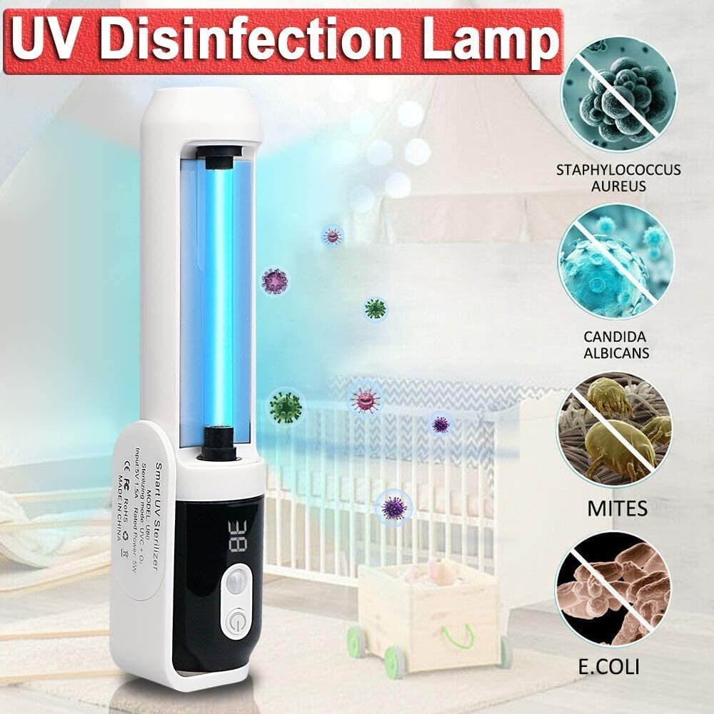 etc. UV Ozone Ultraviolet Germicidal Sterilization Light Home Disinfection Light for Travel M-Ask Baby Room Phone Pet Car Transit time: 5-15 Days Home Portable Ultraviolet Germicidal Lamp