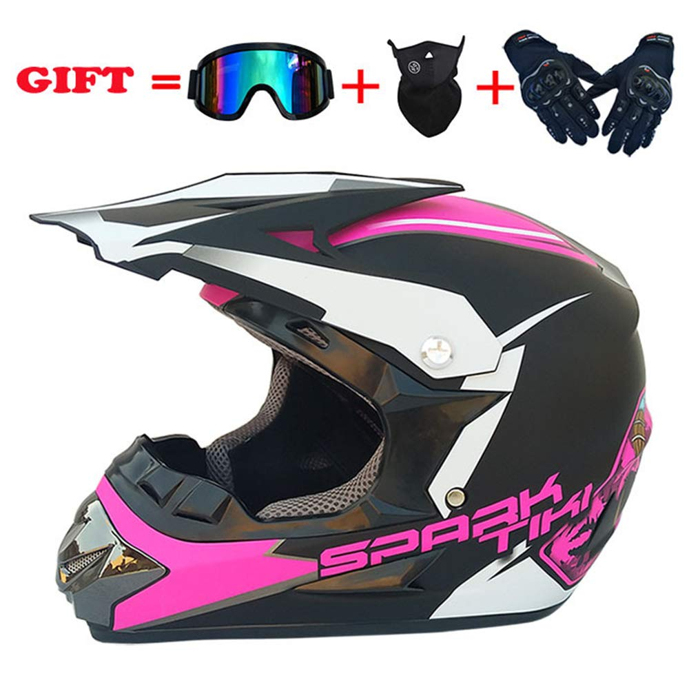 yaning ATV MX Dirt Bike Off-Road Helmet DOT/ECE Approved with Goggle Mask and Gloves