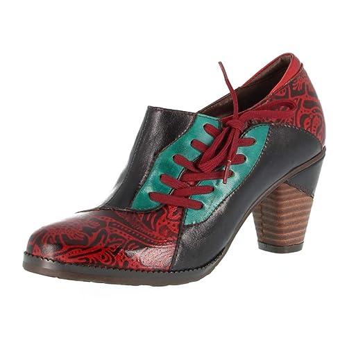Leder Blumen Pumps Damen Stiefeletten Absätzen Patchwork Mit Crazycatz Bunte Vintage Schuhe Handgefertigte tsrhdxQC