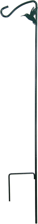 More Birds Shepherd Hook, 42 Inch Hummingbird Feeder Pole Metal Stake with Hook