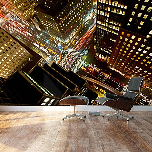 Wall26 - Eagle Eye view of 42nd street in New York City - Landscape - Wall Mural, Removable Sticker, Home Decor - 100x144 - Street New 42nd York