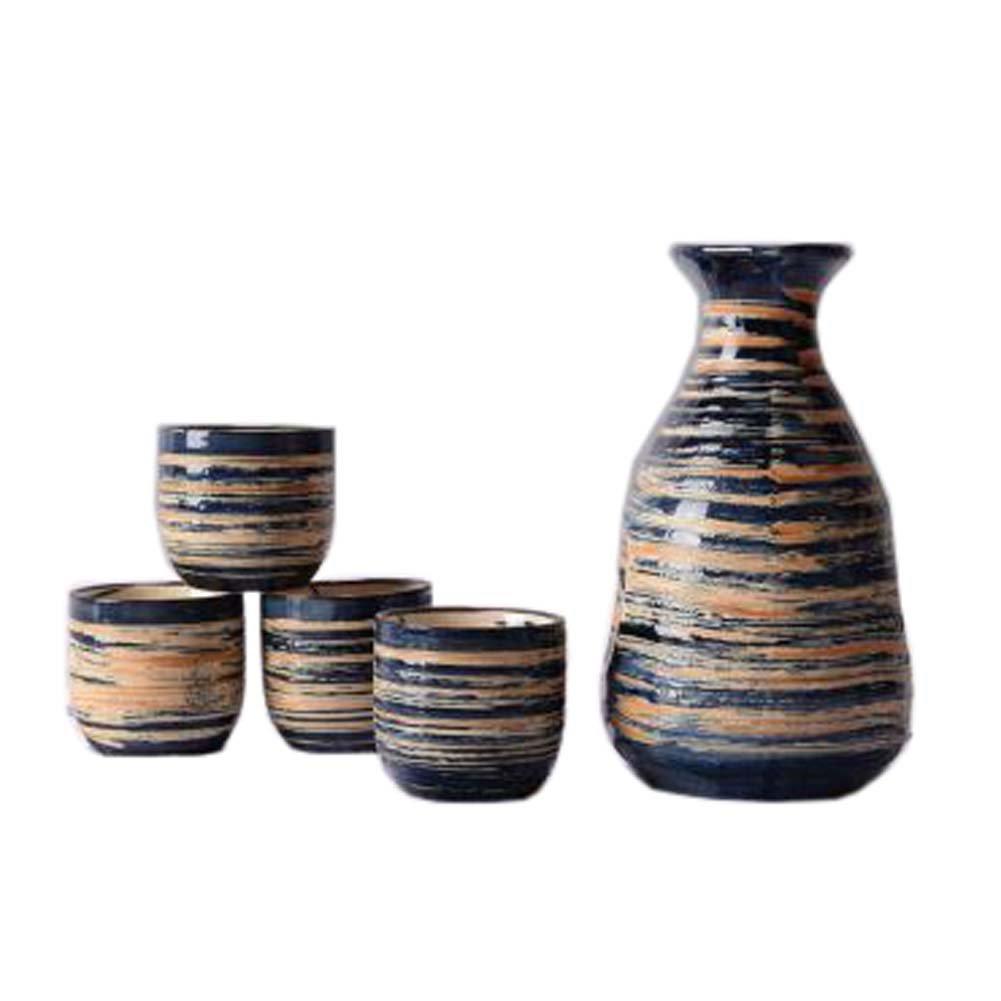 FANCY PUMPKIN Creative Sake Rice Wine Pitcher Cups Sets for Japanese Restaurant, 03