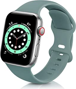 ZALAVER Bands Compatible with Apple Watch Band 38mm 40mm 42mm 44mm, Soft Silicone Sport Replacement Band Compatible with iWatch Series 6 5 4 3 2 1 Women Men Cactus 38mm/40mm M/L