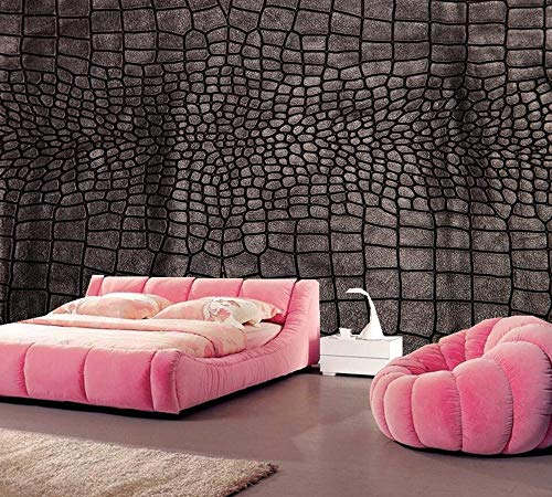 Wallpaper Texture Crocodiles Photo 3D Wallpaper,Living Room Tv Sofa Bedroom Restaurant Bar Background Decorative Wallpaper,300Cmx210Cm (Wallpaper Crocodile Texture)