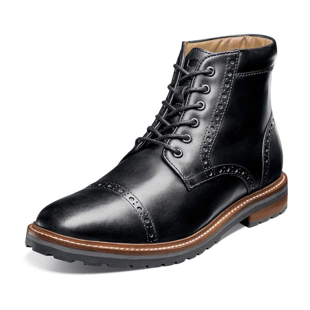 svart Smooth Florsheim herr Estabrook Estabrook Estabrook Cap Toe Boot  70% rabatt