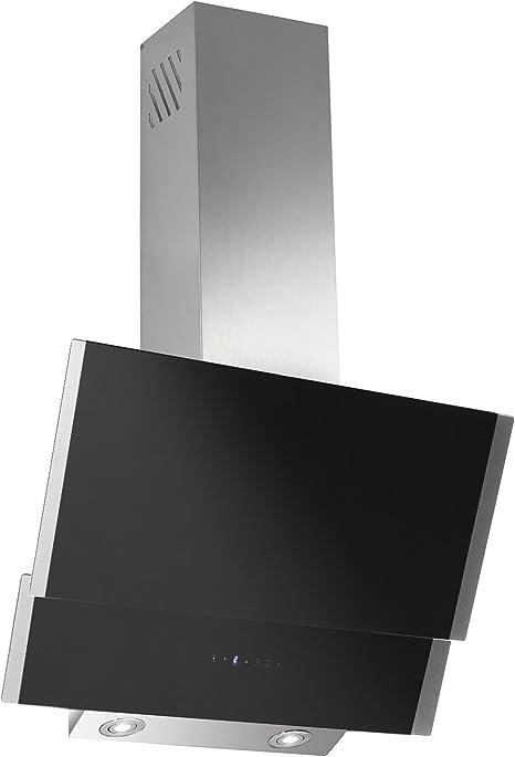 Campana extractora libre de cabeza malva Negro Cristal Acero Inoxidable Chimenea 60 cm: Amazon.es: Grandes electrodomésticos