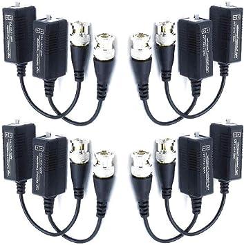 Opinión sobre 4 pares BNC a UTP Cable Pasivo Video Balun Transmisor y Transceptor con Cable para 1080P CVI/TVI/AHD/960H DVR Cámara CCTV Sistema
