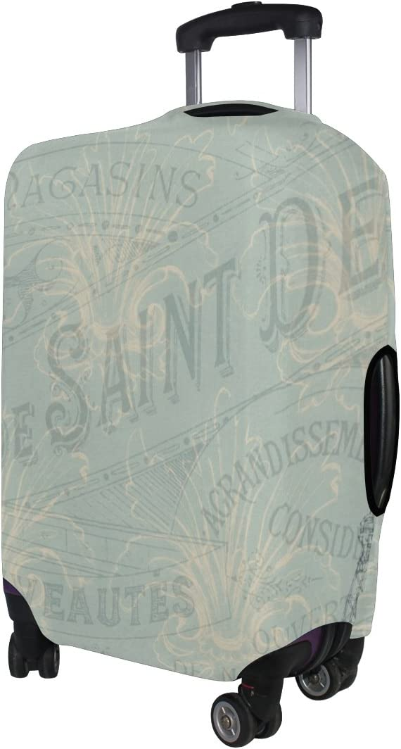 LEISISI French Paris Luggage Cover Elastic Protector Fits XL 29-32 in Suitcase