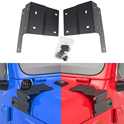 Athiry Metal Mounts Clamp Holder Universal LED Work Light Lower A Pillar Hood Mounting Brackets for LED Light Bar Jeep Wrangler JL 2020 (Pack of a Pair): Automotive