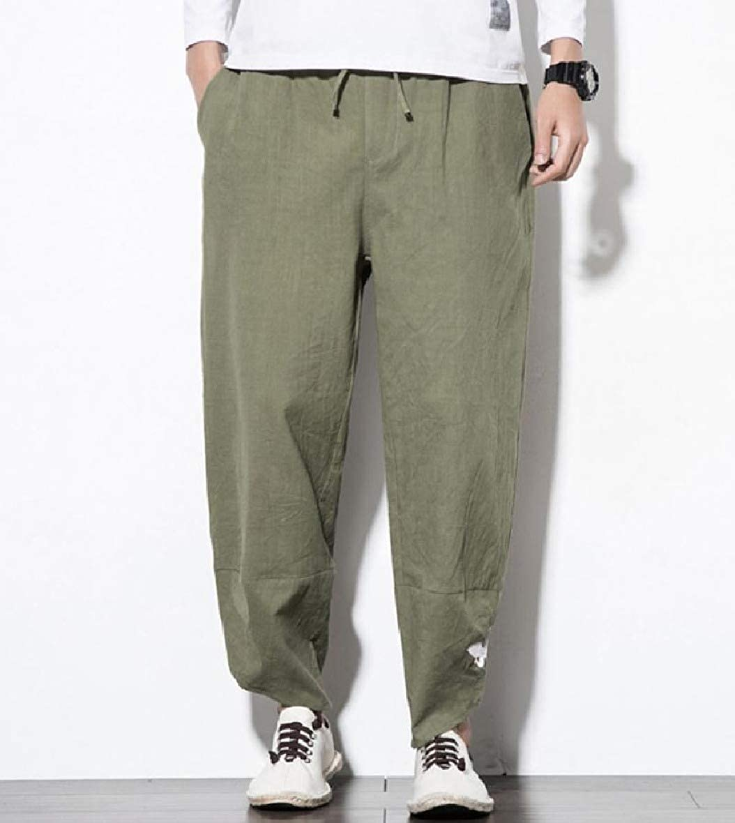 RDHOPE-Men Embroidered Big /& Tall Harem Baggy Work to Weekend Comfort Pants