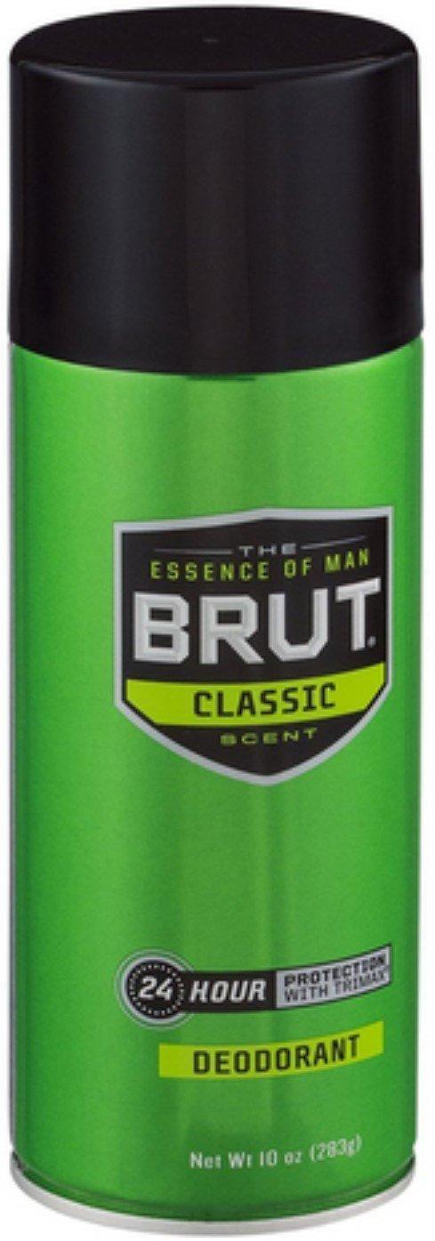 BRUT Deodorant Spray Classic Scent 10 oz Pack of 8