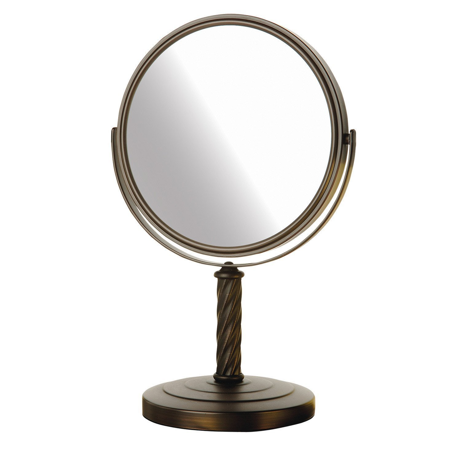 Jerdon LT5165BZ 8-Inch Mirror with 5x Magnification, Bronze Finish