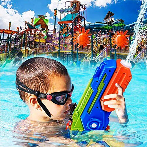 Water Gun Super Soaker, 4 Pack Squirt Guns Water Guns for Kids Adults, 400cc High Capacity Fast Soaking Trigger Summer Water Blaster Toy for Swimming ...