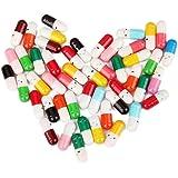 50Pcs Capsule Brief Flasche Mitteilung in einem Mini versenkbaren Flaschenkapsel Brief Nette Liebe Freundschaft Farbe Pille B/ürobedarf
