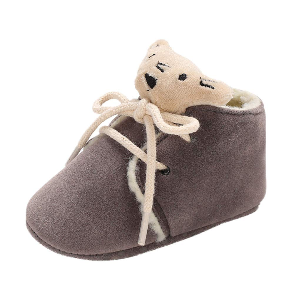 K-youth Botas Niña Invierno Caliente Botines Zapatos Bebe Niña Primeros Pasos 0-18 Mes Antideslizantes Zapatos De Bebé Recien Nacida Zapatillas de Deporte Unisex Niños Bautizo