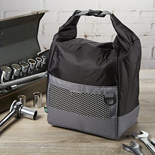 Fit & Fresh Mens Sporty Insulated Lunch Bag, Black