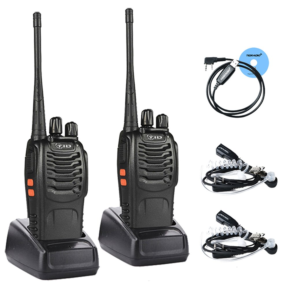 Long Range Walkie Talkies Rechargeable with Earpiece,Two Way Radio Include 1500Mah Li-Ion Battery(2Pack)