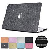 MacBook Pro 13 Case 2017 & 2016 Release A1706/A1708, PapyHall Glitter Dull Polish Plastic Hard Case Cover for MacBook Pro 13 Inch with/without Touch Bar & Touch ID(MS-Gray)