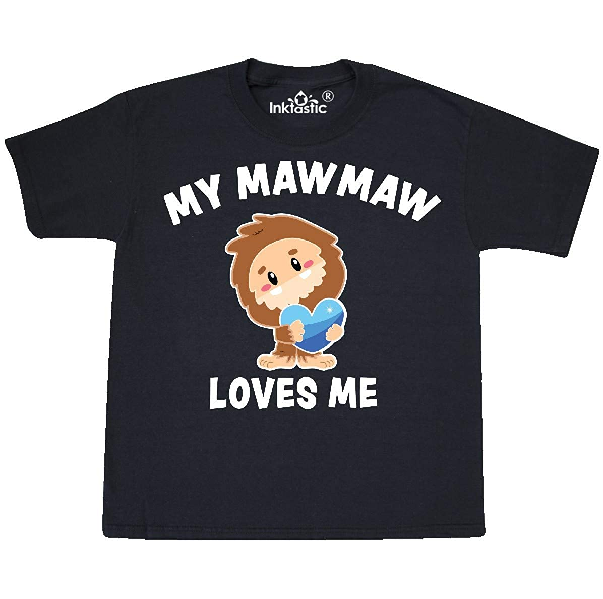 inktastic My Mawmaw Loves Me with Bigfoot Toddler T-Shirt