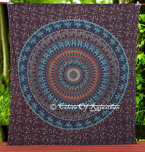 Multi colored Elephant Tapestry Bedsheet Bedspread product image