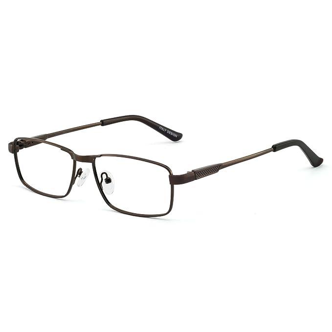 eaca81686318 OCCI CHIARI Optical Metal Eyewear Non-prescription Eyeglasses Frame with  Clear Lenses For Mens(