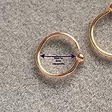 14k Rose Gold Filled Adjustable Metal Hoop Nose ring - 22 Gauge 5-6 mm