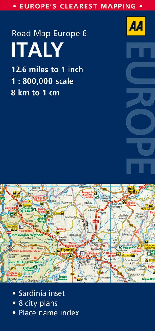 aa road map western europe Road Map Italy (Road Map Europe): AA Publishing: 9780749575342
