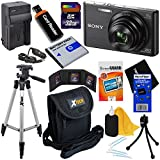 Sony Cyber-shot DSC-W830 20.1 MP Digital Camera with 8x Zoom & Full HD Video, Black (International Version) + NP-BN1 Battery & AC/DC Charger + 9pc 32GB Dlx Accessory Kit w/HeroFiber® Cleaning Cloth
