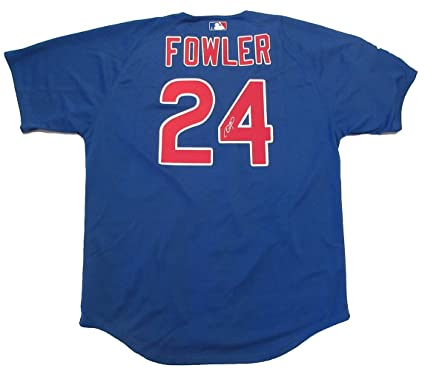 low priced f02aa bced2 Dexter Fowler Autographed Chicago Cubs Jersey W/PROOF ...