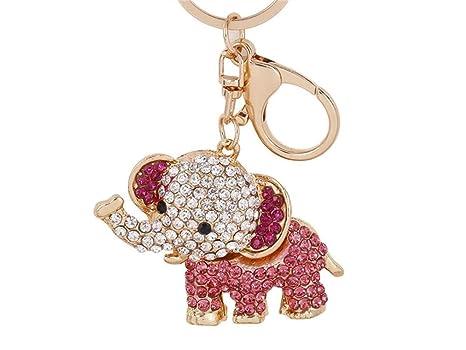 Llavero, Elefante animal de dibujos animados con llavero de ...