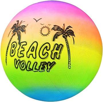 SUPEWOLD Arcoiris Playa Voleibol Bola, PVC Material, Hinchable ...