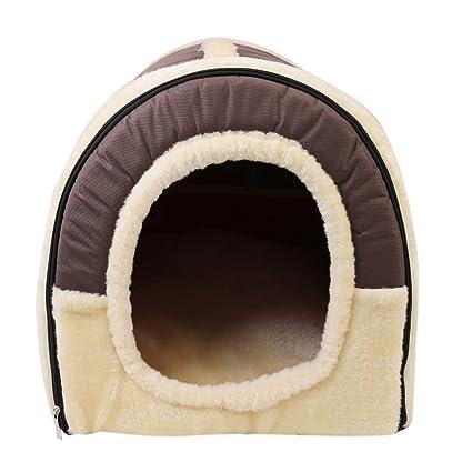 RGB Casa para Gatos Perros Cama Mascota habitacion, 2 en 1 Casa y Sofá Antideslizante