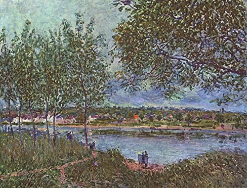 Home Comforts Peel-n-Stick Poster of Oil On Canvas Artistic Alfred Sisley Painting Vivid Imagery Poster 24 x 16 Adhesive Sticker Poster Print