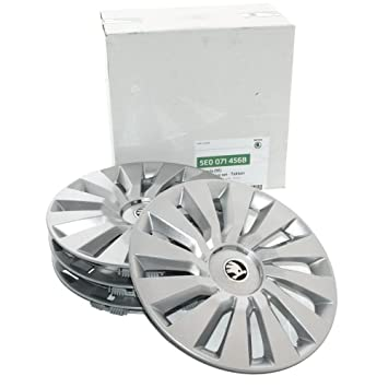 Skoda 5E0071456B original hubcap set, 16 inches, tekton 6.5 J x 16 weel covers