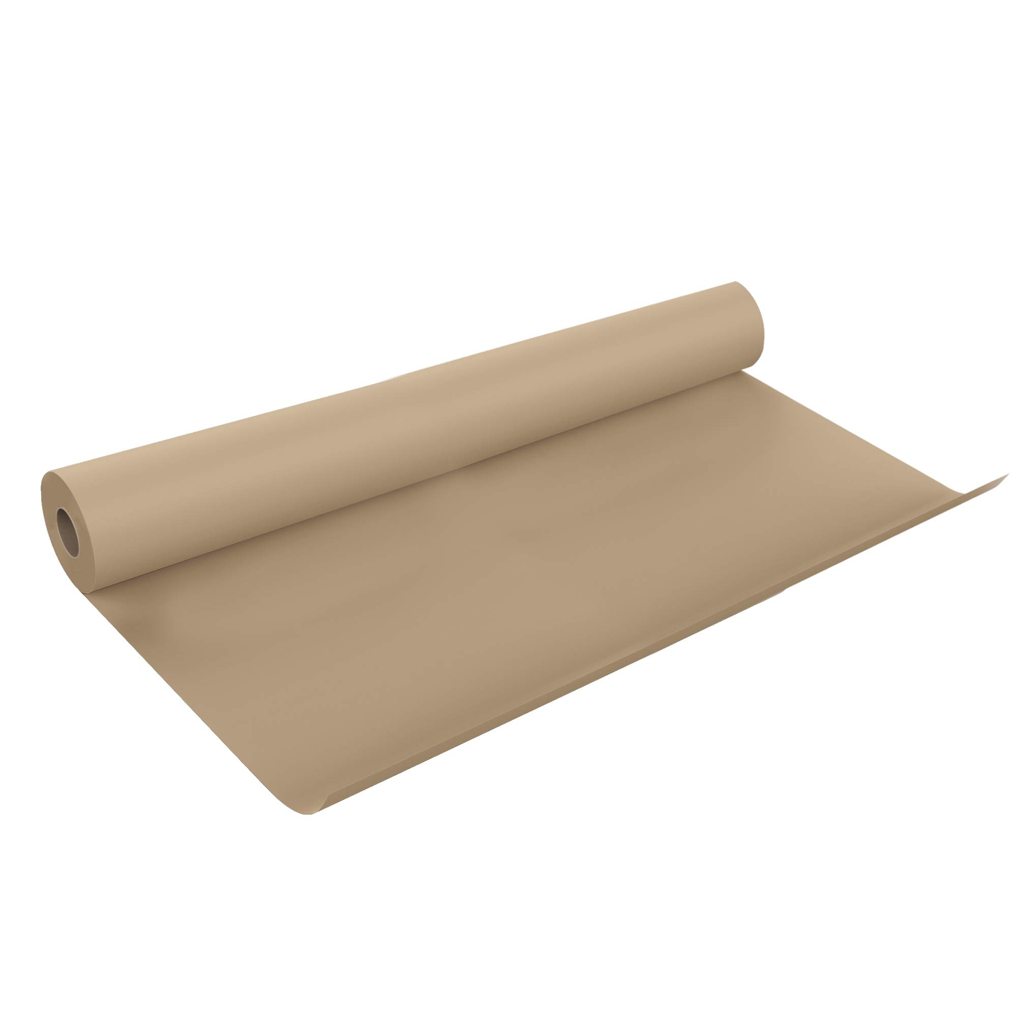 Extra-Wide Brown Kraft USA Paper Roll - 48In x 100Ft - Gift Wrapping, Art, Craft, Postal, Packing, Shipping, Floor Protection, Dunnage, Parcel, Table Runner - Made in USA