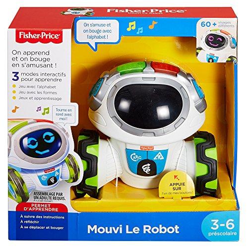 slika Fisher-Price Mouvi Le Robot Interactif, Jouet Enfant Sons et Lumières, Jeux, pour des Apprentissages Préscolaires, 3 Ans et Plus, FKC34