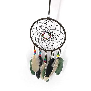 JZTRADING Acchiappasogni Colorful Beads Boho for Event Decorative per Natale per LAlbero di Natale Turchese Acchiappasogni