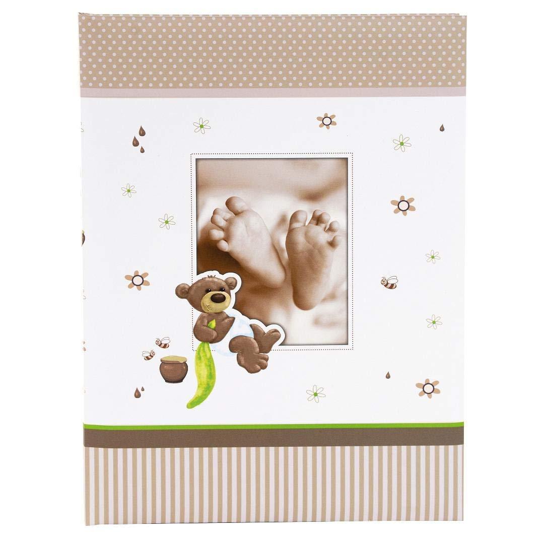 de impresi/ón 21x28 cm Honigb/är Goldbuch Baby /álbum Miel Oso 60/p/áginas con pergamino 30/x 31/cm