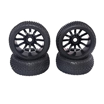 NON MagiDeal 4Pcs Racing RC 1/8 Todoterreno Buggy 17mm Hub Ruedas Y Neumáticos 4 Piezas Para HSP HPI: Amazon.es: Juguetes y juegos