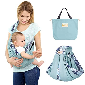Amazon Com Baby Sling Carrier Baby Wrap By Tianer Natural Cotton