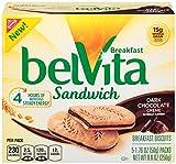 belVita Dark Chocolate Creme Sandwich Breakfast Biscuits, 5Count Box, 8.8 oz (Pack of 6)
