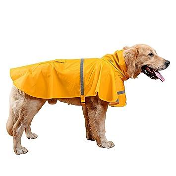 Dog Rain Coats Waterproof Pet Outdoor Winter Jacket Reflective Puppy hoodie UK